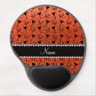 name neon orange glitter cocktail glass bow gel mouse pads