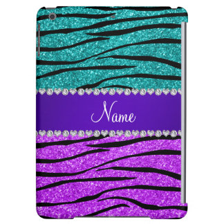 Name neon purple turquoise glitter zebra stripes