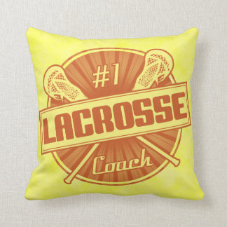 Name & Number Customizable Lacrosse Coach Pillow