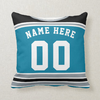 Name & Number Hockey Jersey Template Custom Pillow