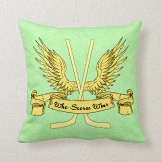 Name & Number Hockey Who Scores Wins Pillow