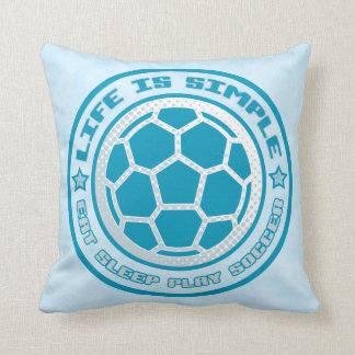 Name & Number Pillow, Eat, Sleep, Play Soccer Cushion