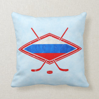 Name & Number Russia Hockey Flag Pillow