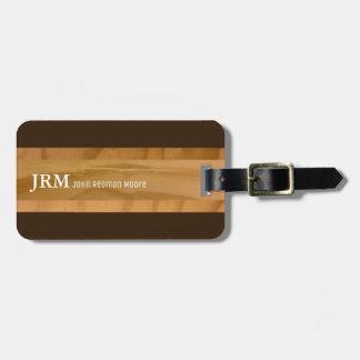 name on wood grains look / airplane travel bag tag