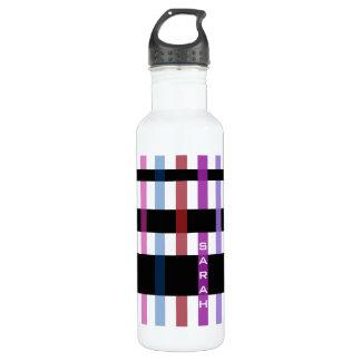 Name or Initials & Modern Weaving Stripes 710 Ml Water Bottle