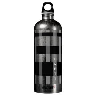 Name or Initials & Modern Weaving Stripes SIGG Traveller 1.0L Water Bottle