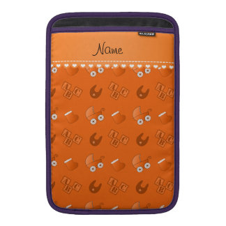 Name orange baby bib blocks carriage booties MacBook sleeve