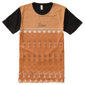 Name orange baby bottle rattle pacifier stork All-Over print T-Shirt