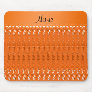 Name orange baby bottle rattle pacifier stork mouse pad