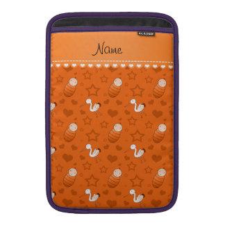 Name orange baby stork hearts stars sleeve for MacBook air