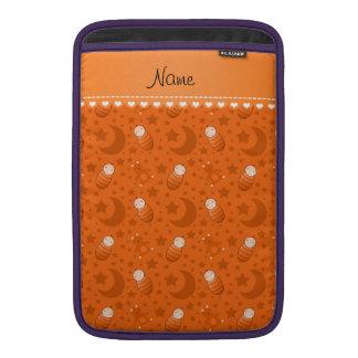 Name orange baby teddy bear stars moons MacBook sleeve