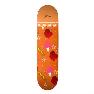 Name orange cotton candy apples corn dogs skateboard decks