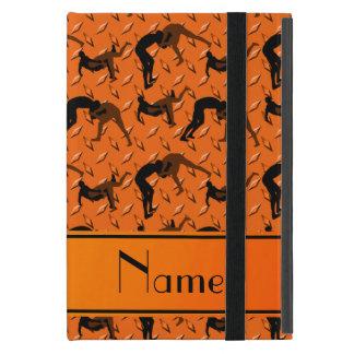 Name orange diamond steel plate wrestling iPad mini case