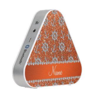 Name orange glitter silver anchors ships wheel bluetooth speaker