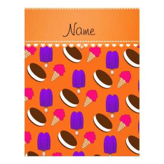Name orange ice cream cones sandwiches popsicles 21.5 cm x 28 cm flyer