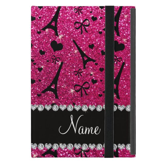 name paris eiffel tower neon hot pink glitter