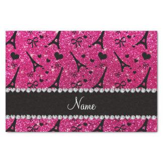 name paris eiffel tower neon hot pink glitter tissue paper
