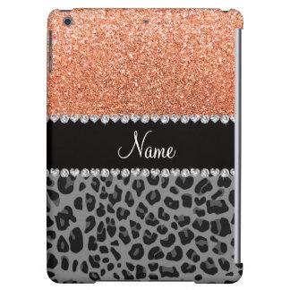 Name pastel orange glitter black leopard