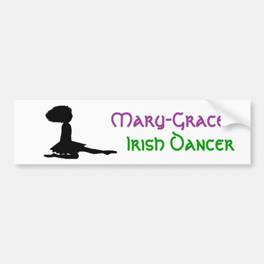 Name - PERSONALIZED - Irish Dance Bumper Sticker