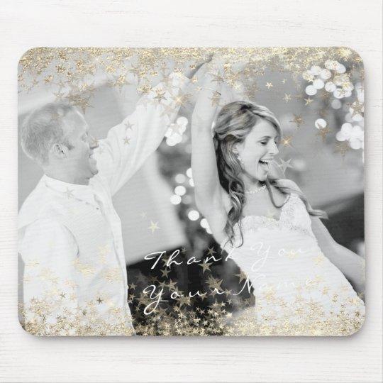 Name Photo Golden Stars Wedding Favor Thank You