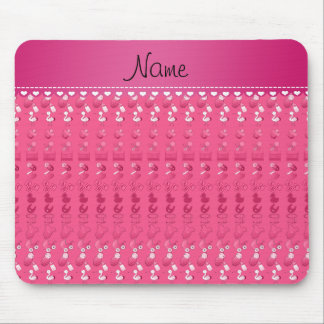 Name pink baby bottle rattle pacifier stork mouse pad