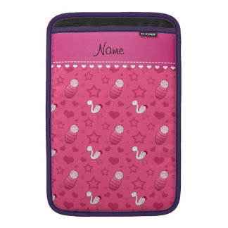 Name pink baby stork hearts stars sleeves for MacBook air