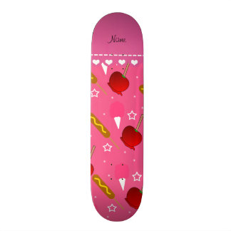 Name pink cotton candy apples corn dogs skate board deck