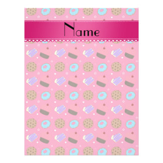 Name pink cupcake donuts cake cookies flyers