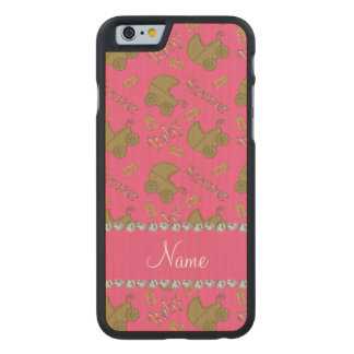 Name pink gold baby carriages pins baby shower carved® maple iPhone 6 slim case
