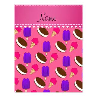 Name pink ice cream cones sandwiches popsicles 21.5 cm x 28 cm flyer
