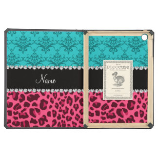 Name pink leopard turquoise damask iPad air cases