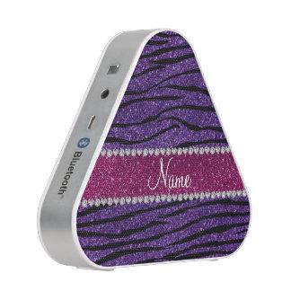 Name purple glitter zebra stripes pink stripe