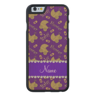 Name purple gold baby carriages pins baby shower carved® maple iPhone 6 slim case