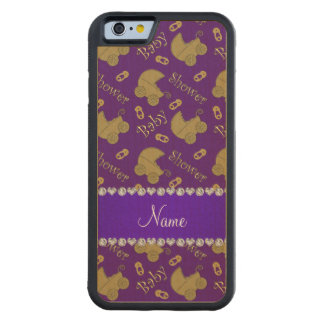 Name purple gold baby carriages pins baby shower maple iPhone 6 bumper case