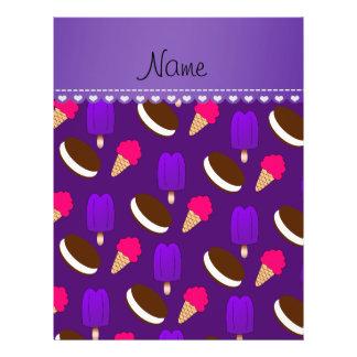 Name purple ice cream cones sandwiches popsicles 21.5 cm x 28 cm flyer