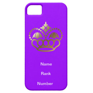 Name, rank and Number purple iPhone 5 Cover