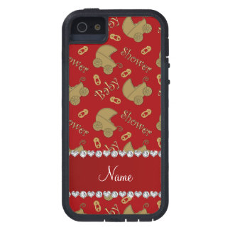 Name red gold baby carriages pins baby shower iPhone 5 covers