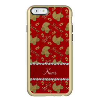 Name red gold baby carriages pins baby shower incipio feather® shine iPhone 6 case