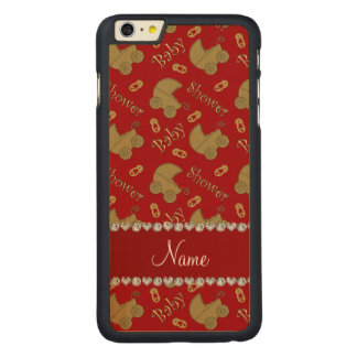 Name red gold baby carriages pins baby shower iPhone 6 plus case