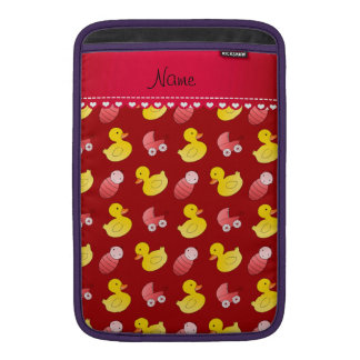 Name red rubberduck baby carriage sleeves for MacBook air