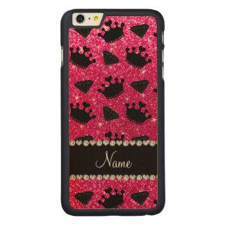 Name rose pink glitter princess crowns diamonds iPhone 6 plus case