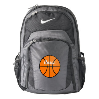 Name School Sports Book Basketball Backpack Gift