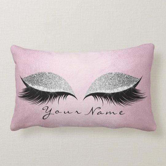 Name Silver Glitter Black Eyes Pink Makeup Lashes