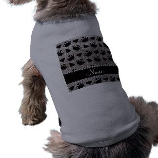 Name silver glitter princess crowns diamonds sleeveless dog shirt