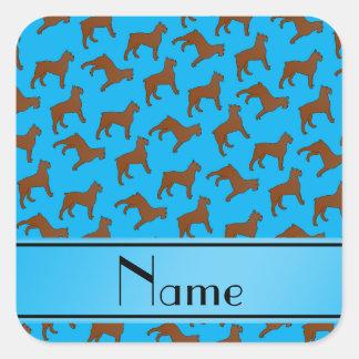 Name sky blue Bouvier des Flandres dogs Square Sticker