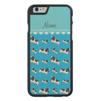 Name sky blue english cocker spaniel dog carved® maple iPhone 6 slim case