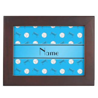 Name sky blue volleyball balls and nets memory box