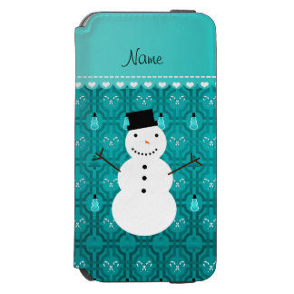 Name snowman turqouise candy canes christmas tree incipio watson™ iPhone 6 wallet case