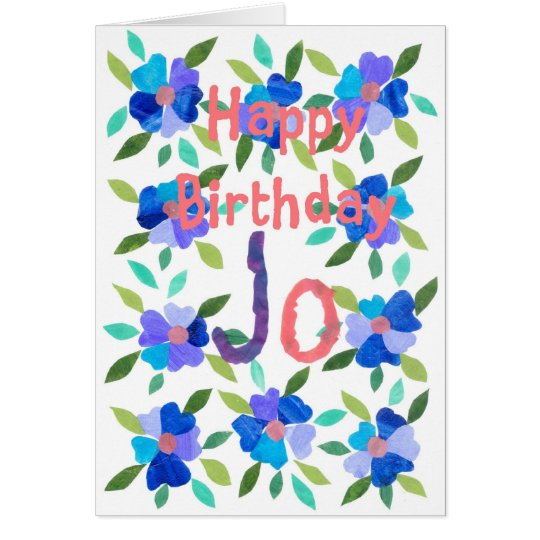 Name-specific Birthday Card - Jo