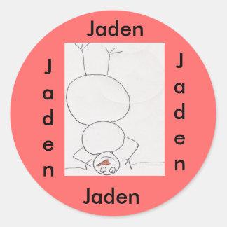 name sticker for Jaden